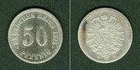 1875 Kleinmünzen 50 Pfennig DEUTSCHES REI...