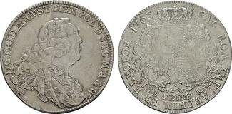 Konventionstaler 1763 FWoF Dresden. SACHSEN Friedrich August II., 1733-1763. Sehr schön +