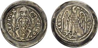 Denar (um 1269). ITALIEN Gregorio di Montelongo, 1251-1269. Sehr schön-vorzüglich.