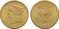 5 Dollar 1886 San Fr USA  Vs. Minim. Kratz...