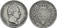 5 Lire 1827, P - G ITALIEN Karl Felix, 182...
