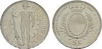 5 Franken 1934. SCHWEIZ Stadt. Fast Stempe...