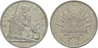 5 Franken 1867. SCHWEIZ Stadt. Vorzüglich.