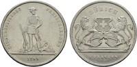 5 Franken 1859. SCHWEIZ Stadt. Fast vorzüg...