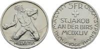 5 Franken 1944, St.Ja SCHWEIZ  Fast Stempe...