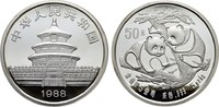50 Yuan 1988. CHINA  Polierte Platte, geka...