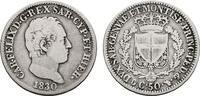 50 Centesimi 1830, Turin. ITALIEN Karl Felix, 1821-1831. Sehr schön.  200,00 EUR  +  7,00 EUR shipping