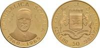 50 Shillings 1965. SOMALIA Republik. Polierte Platte  275,00 EUR  +  7,00 EUR shipping