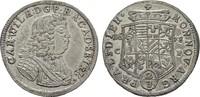 2/3 Taler 1678 Zerbst ANHALT Carl Wilhelm,...