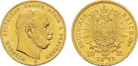 10 Mark 1872 B Preussen Wilhelm I., 1861-1...