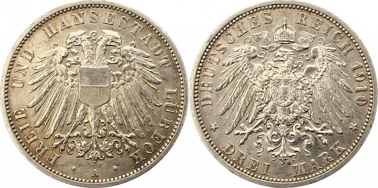 3 Mark 1910 A Lbeck EF