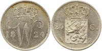 25 Cent 1824  B Niederlande-Königreich Wilhelm I. 1814-1840. Vorzüglich... 100,00 EUR  +  4,00 EUR shipping