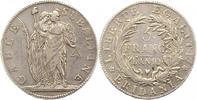 Italien-Subalpine Republik Massa und Carrara 5 Francs Republik 1800-1802.