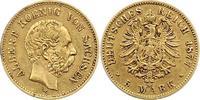 5 Mark Gold 1877  E Sachsen Albert 1873-1902. Stempelfehler, sehr schön  575,00 EUR Gratis verzending
