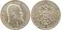 5 Mark 1906  F Württemberg Wilhelm II. 189...