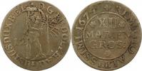 12 Mariengroschen 1674 Braunschweig-Wolfen...