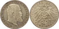 5 Mark 1913  F Württemberg Wilhelm II. 189...