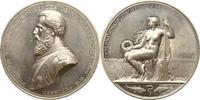 Versilberte Weissmetallmedaille 1880 Brand...