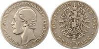 2 Mark 1877  A Mecklenburg-Strelitz Friedr...