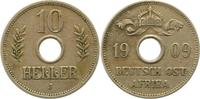 10 Heller 1909  J Deutsch Ostafrika  Sehr ...