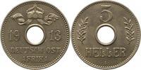 5 Heller 1913  A Deutsch Ostafrika  Winz. ...