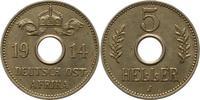 5 Heller 1914  J Deutsch Ostafrika  Vorzüg...