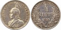 1/4 Rupie 1910  J Deutsch Ostafrika  Kratz...