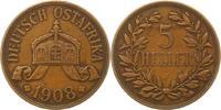 5 Heller 1908  J Deutsch Ostafrika  Fast s...