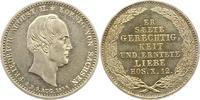 1/6 Sterbetaler 1854 Sachsen-Albertinische...