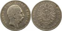 5 Mark 1876  E Sachsen Albert 1873-1902. F...