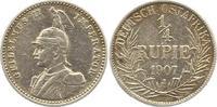 1/4 Rupie 1907  J Deutsch Ostafrika  Sehr ...