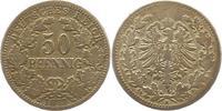50 Pfennig 1877  H Kleinmünzen  Schön - se...