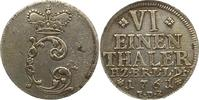 1/6 Taler 1761 Braunschweig-Wolfenbüttel K...