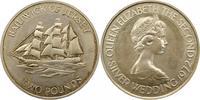 2 Pfund 1972 Großbritannien-Jersey Elsabet...