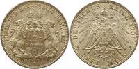 3 Mark 1908  J Hamburg  Vorzüglich +