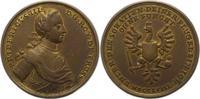 Bronzegussmedaille 1758 Brandenburg-Preuße...