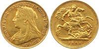 1/2 Sovereign Gold 1896 Großbritannien Vic...