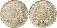 50 Centavos 1909 Bolivien Republik. Vorzüg...