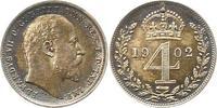 Fourpence 1902 Großbritannien Edward VII. ...
