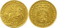 14 Gulden Gold 1750 Niederlande-Holland, P...
