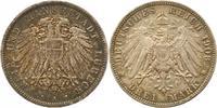 3 Mark 1908  A Lübeck  Schöne Patina. Winz...
