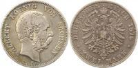 2 Mark 1876  E Sachsen Albert 1873-1902. F...