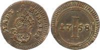 Pfennig 1758 Münster-Stadt  Sehr schön - v...
