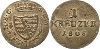 1 Kreuzer 1805  L Sachsen-Coburg-Saalfeld ...