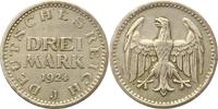 3 Mark 1924  J Weimarer Republik  Gereinig...