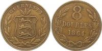8 Doubles 1864 Großbritannien-Guernsey Gue...