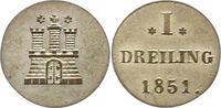 Dreiling 1851 Hamburg, Stadt  Vorzüglich -...
