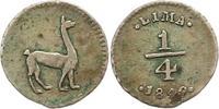 1/4 Real 1849 Peru  Sehr schön