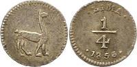 1/4 Real 1856 Peru  Sehr schön +