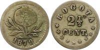 2 1/2 Cent 1879 Kolumbien Vereinigte Staat...